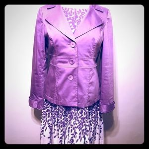Talbots Purple & White Dress & INC Purple Blazer